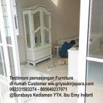 instalasi furniture 150x150 - pemasangan Furniture Lemari L modern