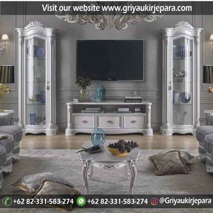 gambar lemari tv klasik griya ukir jepara
