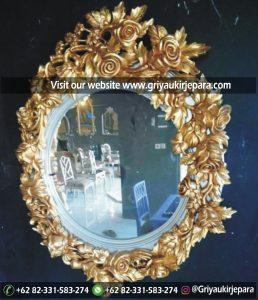 10 Model Cermin Model Bundar Ukiran Kayu Jepara
