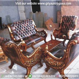 Sofa Ruang Tamu Modern Natusi Kayu Jati Jepara
