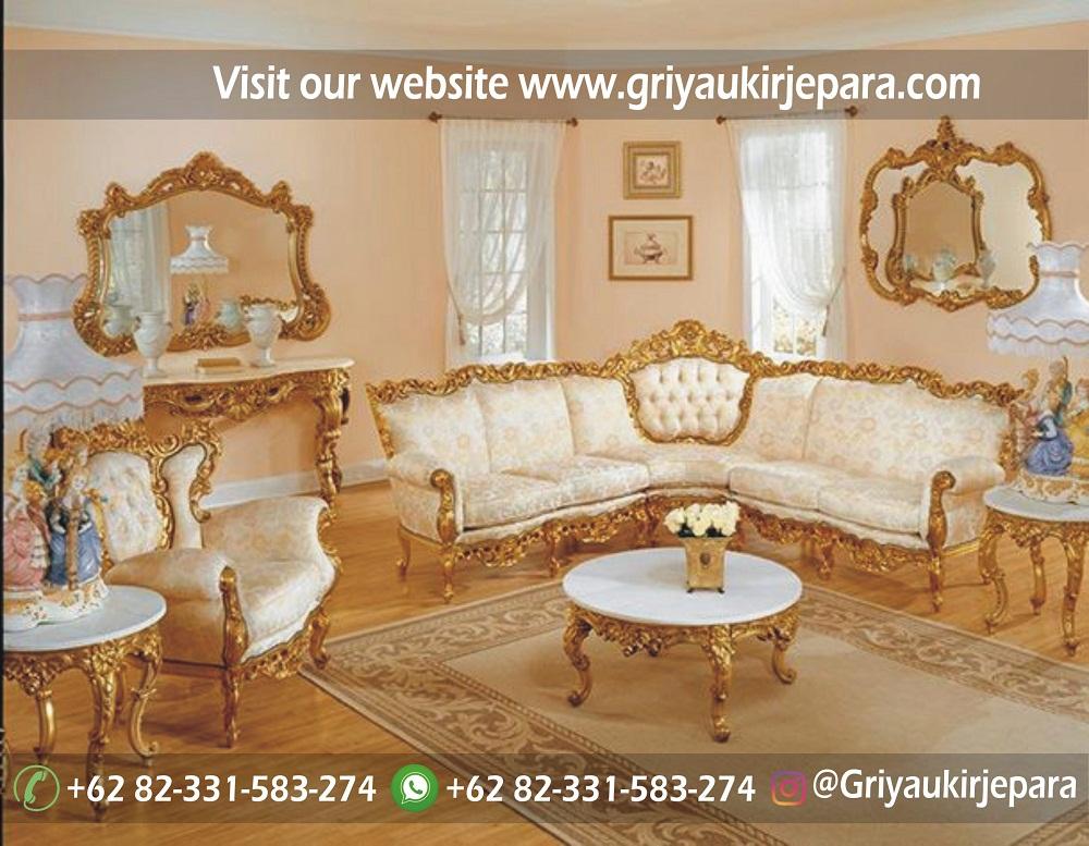 Sofa mewah 22 - 10+ Sofa Ruang Tamu Sudut Jati Murah