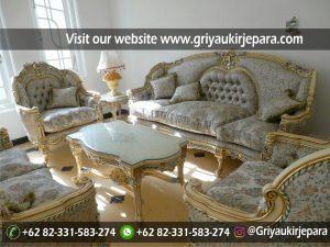 Sofa Ruang Tamu dan Keluarga Kayu Jati