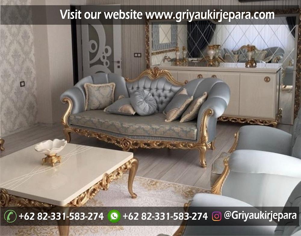 Sofa mewah 44 - 70 Sofa Ruang Tamu Jati Mewah Murah