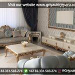 Sofa Ruang Tamu Mewah Jepara Full Jok