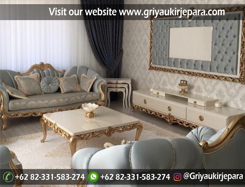 Sofa mewah 46 - 70 Sofa Ruang Tamu Jati Mewah Murah