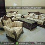 Sofa Ruang Tamu Jati Orfeo Romawi
