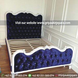 Tempat Tidur Jati Modern Ukiran Jepara BED 004
