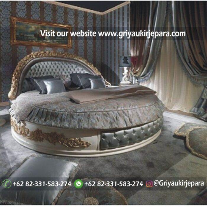 kamar set 22 - Tempat tidur model Bundar terbaru kode BED 008