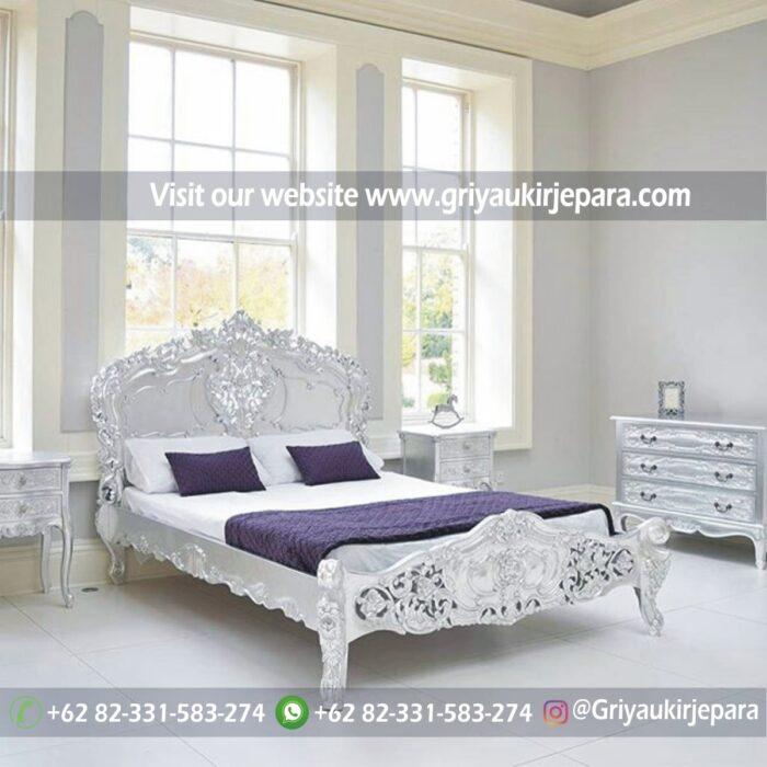 kamar set 4 - Tempat Tidur Jati Modern Ukiran Jepara BED 001
