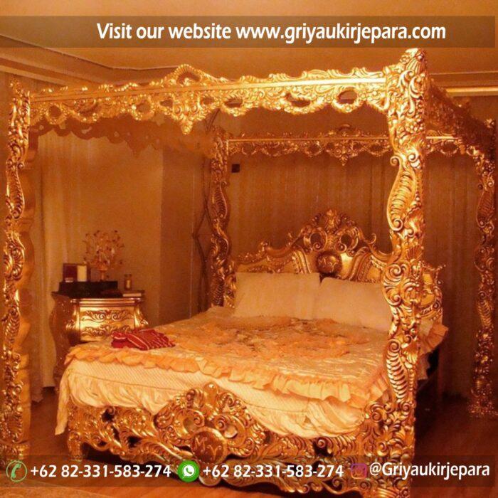 Dipan Tempat Tidur Kanopi Gold Series