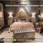 Tempat Tidur Modern Lukis Bunga Mewah Kode BED 023