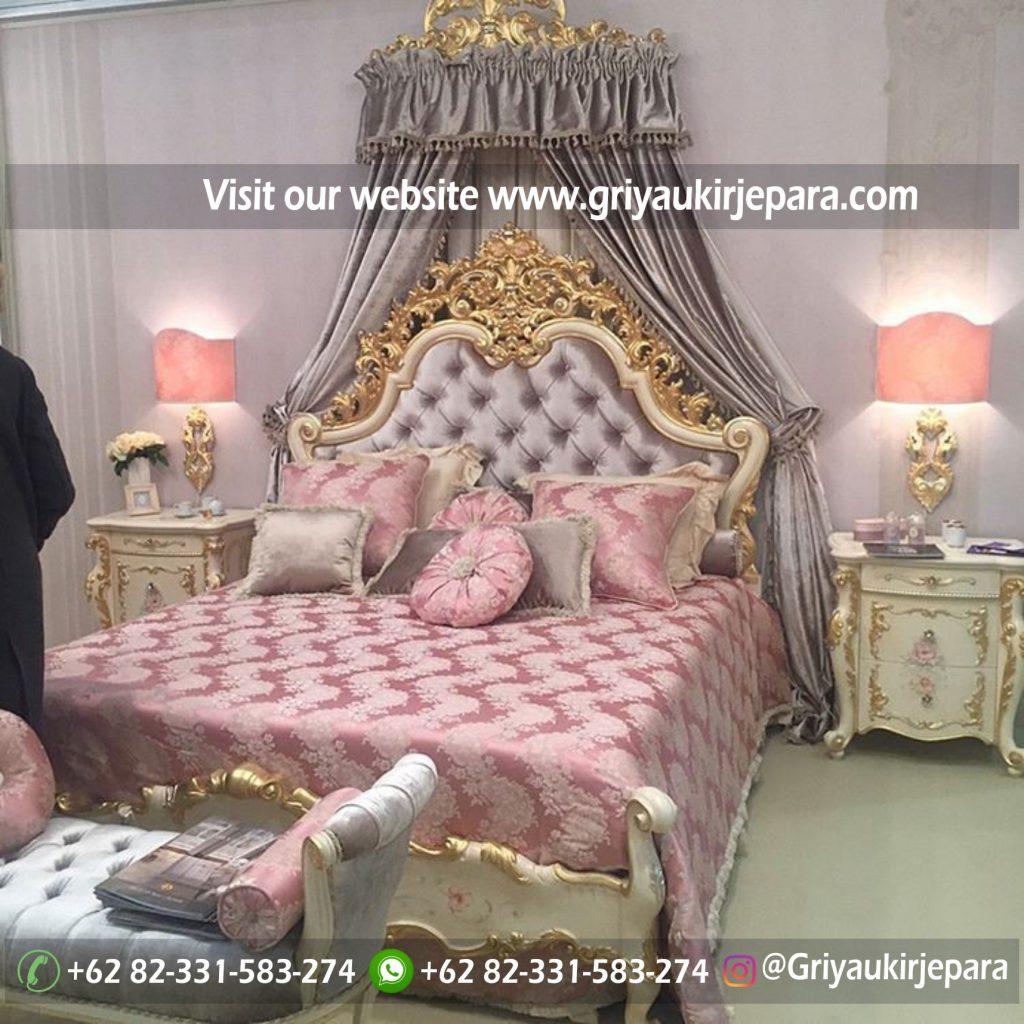 kamar set 45 1024x1024 - Tempat Tidur Modern Lukis Bunga Mewah Kode BED 023