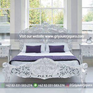 Tempat Tidur Jati Modern Ukiran Jepara BED 001