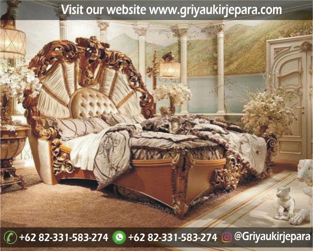 kamar set 57 1024x822 - Tempat Tidur Jati Ukiran Mewah BED 019
