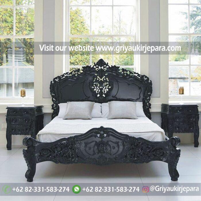kamar set 6 - Tempat Tidur Jati Modern Ukiran Jepara BED 001