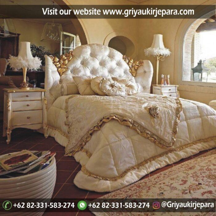 Tempat Tidur Jati Mewah Modern