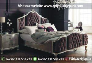 Tempat Tidur Jati Modern Ukiran Jepara BED 002