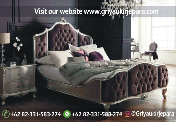 kamar set 8 - Tempat Tidur Jati Modern Ukiran Jepara BED 002