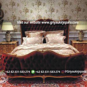 Tempat Tidur Jati Modern Ukiran Jepara BED 003
