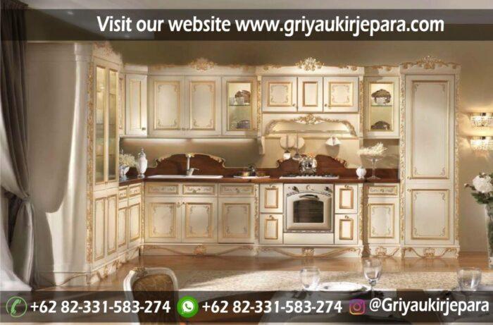 Gambar Kitchen Set Mewah Model Eropa Klasik