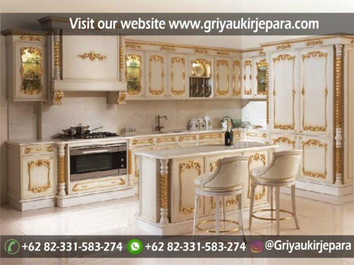 Model Kitchen Set Rumah Mewah Klasik