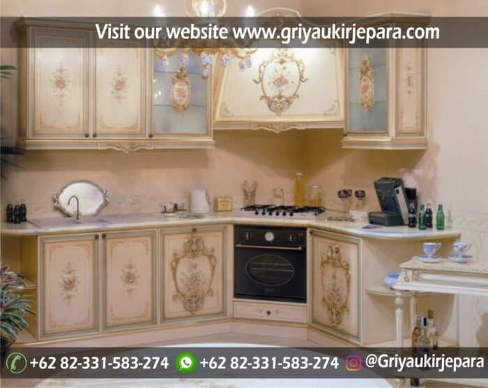 Gambar Kitchen Set Model Modern Kombinasi Lukisan