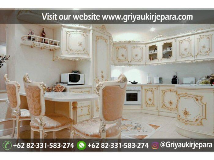 Gambar Kitchen Set Mewah Ukiran Jepara, Model Mewah dan elegant