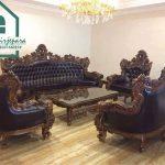 Sofa Ruang Tamu Romawi Jati