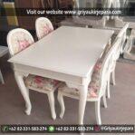 Meja Makan Jati Warna Putih Murah