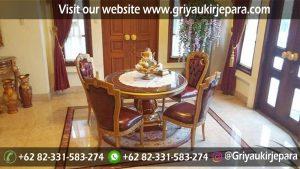 meja makan36 300x169 - Meja Makan Jati 4 Kursi Veneer Inlay