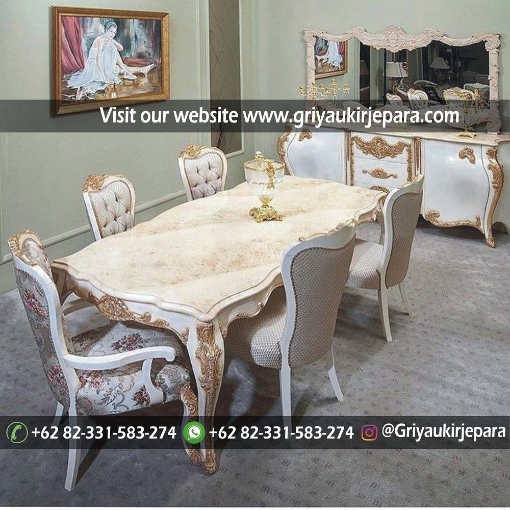 meja makan4 - 10+Model Set Meja Makan Jati Ukiran