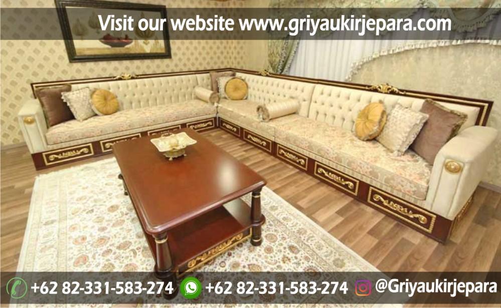 sofa sudut jati 4 - 10+ Sofa Ruang Tamu Sudut Jati Murah
