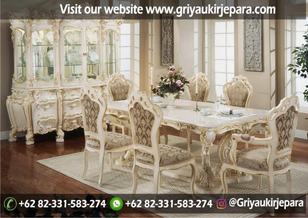 model set meja makan mewah 8 kursi