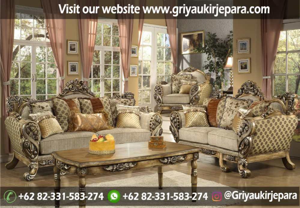 Sofa Ruang Tamu Modern Griya Ukir Jepara 11 - Sofa Ruang Tamu Jati Klasik Mewah