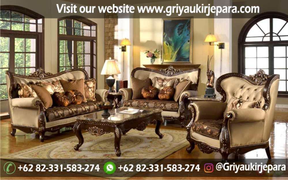 Sofa Ruang Tamu Modern Griya Ukir Jepara 13 - Sofa Ruang Tamu Jati Klasik Mewah