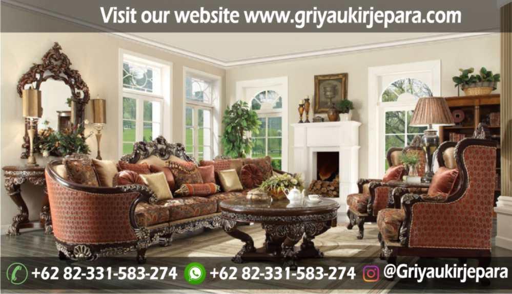Sofa Ruang Tamu Modern Griya Ukir Jepara 14 - 100+ Model Sofa Ruang Tamu Jati Mewah