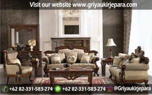 Sofa Ruang Tamu Jati Klasik Mewah