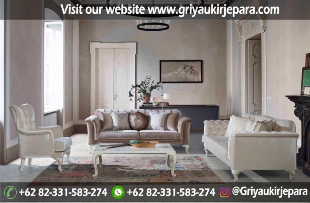 Sofa Ruang Tamu Modern Griya Ukir Jepara 25 - Sofa Ruang Tamu Jati Full Jok Murah