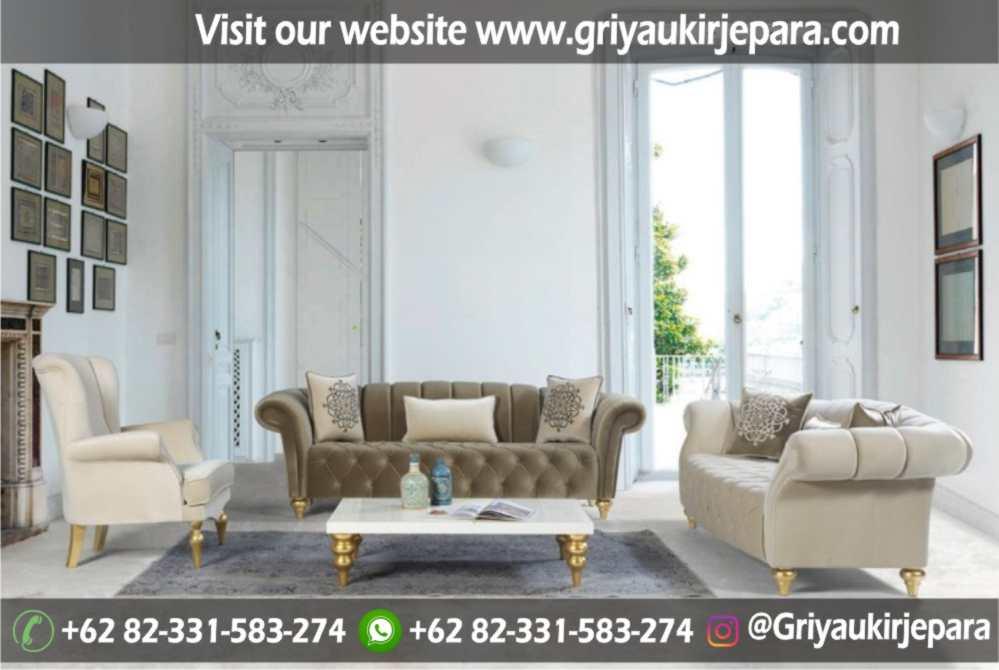 Sofa Ruang Tamu Modern Griya Ukir Jepara 26 - Sofa Ruang Tamu Jati Full Jok Murah