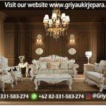 Sofa Ruang Tamu mewah warna cat duco putih