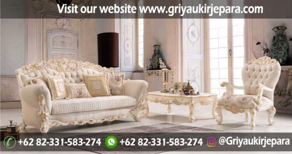 Sofa Ruang Tamu Modern Griya Ukir Jepara 31 - Sofa Ruang Tamu Mewah SRT 105 - 109