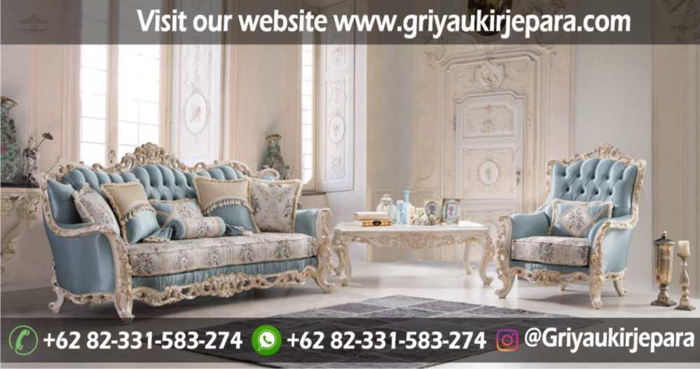 Sofa Ruang Tamu Mewah Ukiran