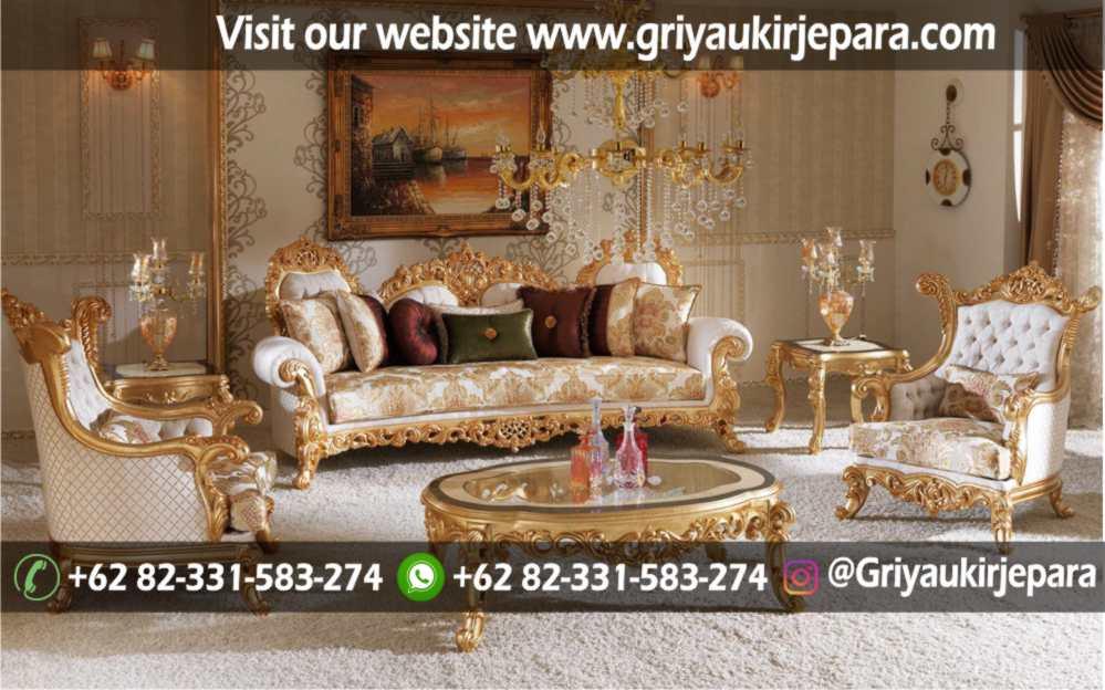 Sofa Ruang Tamu Modern Griya Ukir Jepara 36 - Sofa Ruang Tamu Jati Mewah Klasik