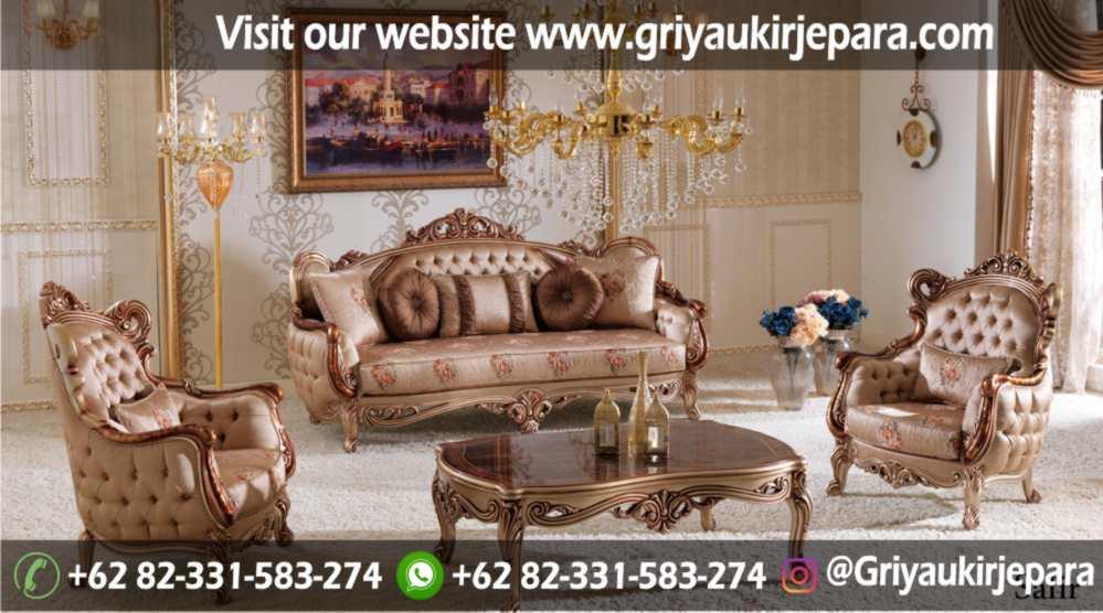Sofa Ruang Tamu Modern Griya Ukir Jepara 37 - Sofa Ruang Tamu Jati Mewah Klasik