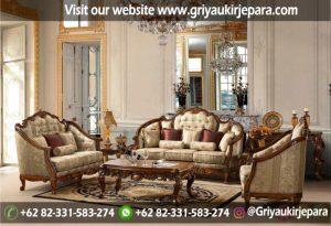 Sofa Ruang Tamu Jati Ukiran Klasik