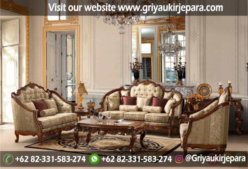 Sofa Ruang Tamu Modern Griya Ukir Jepara 7 - 100+ Model Sofa Ruang Tamu Jati Mewah