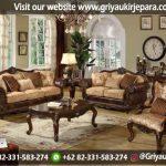 Sofa Ruang Tamu Jati Jepara Ukiran Mewah: