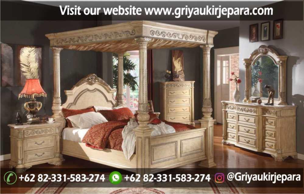 10+ Desain Tempat Tidur Kanopi Ukir Jepara