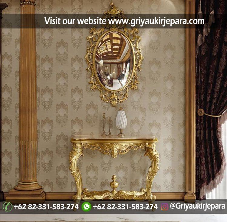 meja konsul griya ukir jepara 013 e1540268844880 - Meja Konsul Ukiran Finishing Ivory Gold