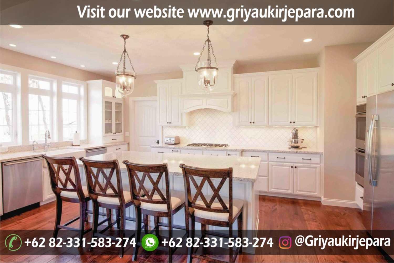 kitchen set dan meja bar modern desain mewah